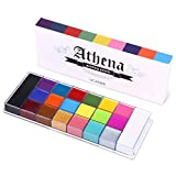 UCANBE 20 Color Athena Face Body Paint Oil - Large Pan Black & White, Professional Non Toxic SFX...