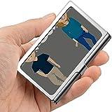 Profesional de metal tarjeta de visita adolescente niño niña secretamente amor lateral titular bolsillo tarjeta de visita delgada portador tarjeta de visita HOL