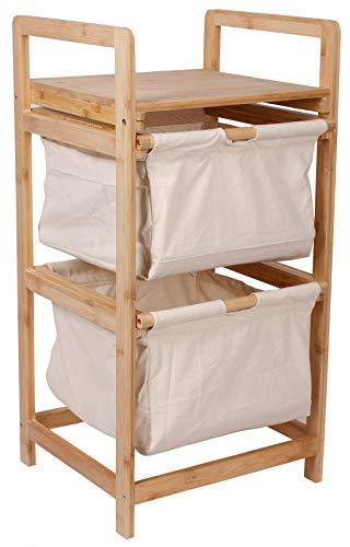Selltex Wäschesammler Bambus Wäschekorb Badschrank Schränkchen Badezimmer Wäsche
