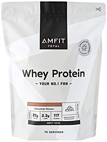 Marca Amazon - Amfit Nutrition Proteína de Suero de Leche en Polvo...