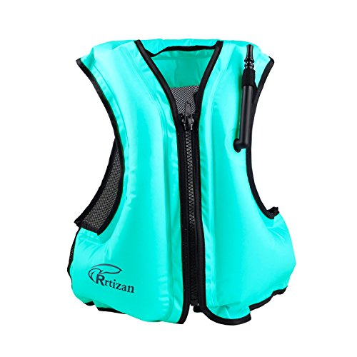 Rrtizan Adult Inflatable Life Jacket, Suitable for 80-220lbs