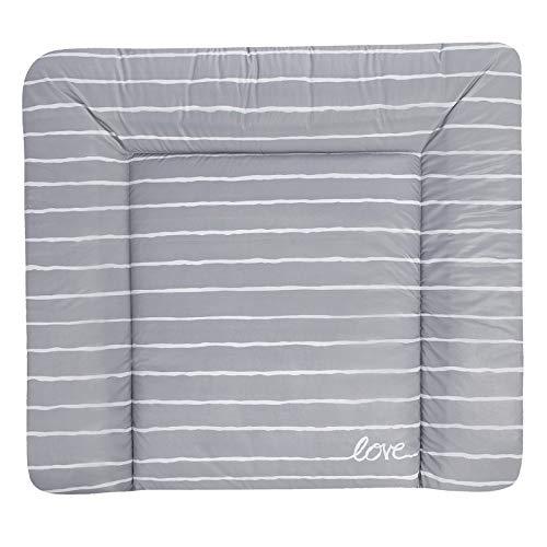 Julius Zöllner Wickelauflage Softy 65x75 cm Folie Grey Stripes