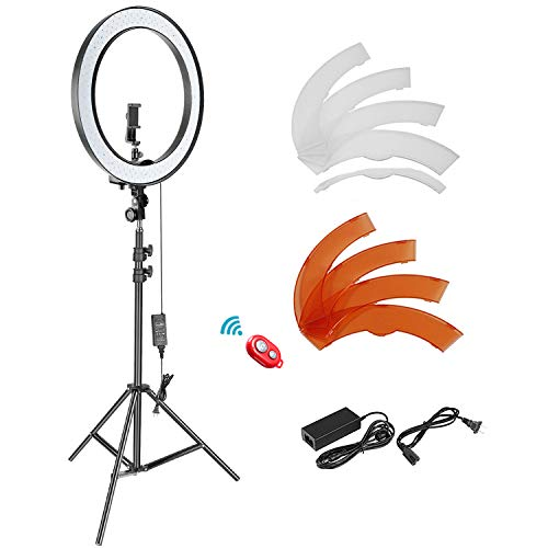 Neewer 18-inch SMD LED Ring Light Dimmable Lighting Kit with 78.7-inch...