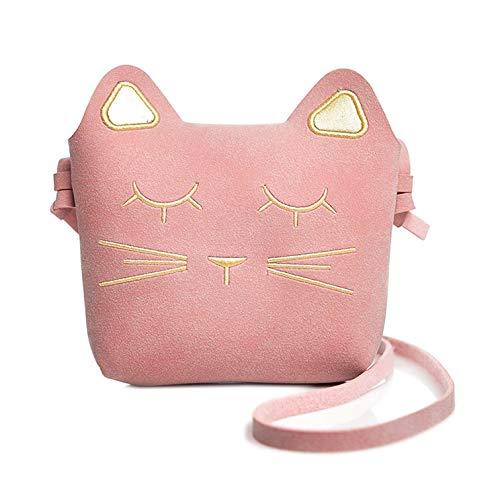 LHKJ Süße Umhängetaschen Mädchen Geldbeutel Mini Verstellbarer Schultergurt Schulter Crossbody Tasche,Katze Cross Body Messenger Bag