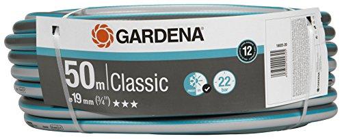 """GARDENA Classic Schlauch 19 mm (3/4\""""), 50 m: Universeller Gartenschlauch aus robustem Kreuzgewebe, 22 bar Berstdruck, UV-beständig, ohne Systemteile, verpackt (18025-20)"""
