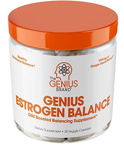 Genius Estrogen Balance – DIM Supplement w/Grape Seed...