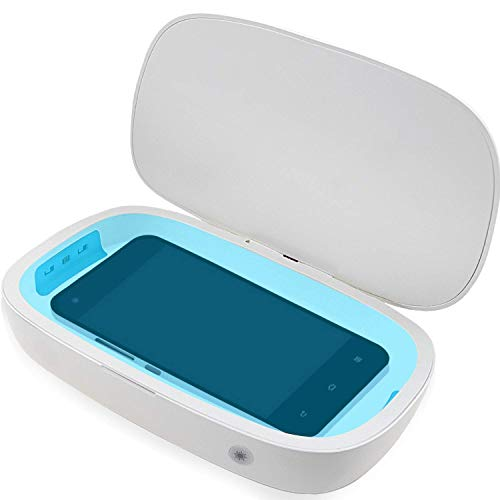 Cell Phone Box with 10W Wireless Charging Charger Station Compatible, 3-in-1 Portable Phone Device for All Cellphones