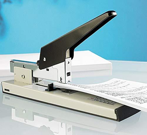 PRICEKILLER - Spillatrice professionale a leva manuale cucitrice 100 fogli alti spessori + confezione da 1000 punte metalliche punti 23/13 (Variante 1000 puntine)