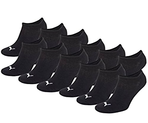 12 Paar PUMA Sneakersocken im Vorteilspack (Black, 47-49)