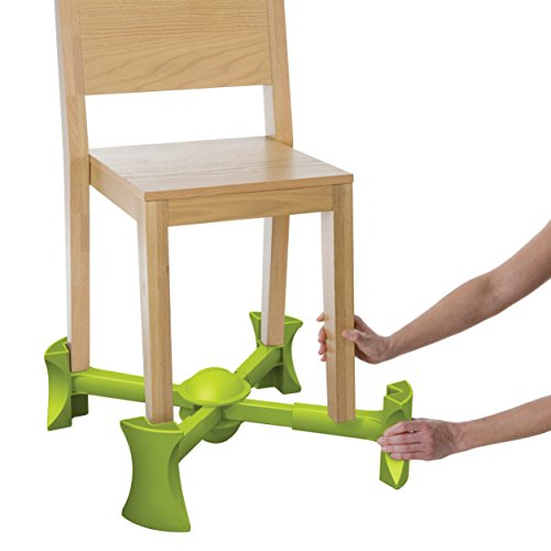 KABOOST Booster Seat for Dining, Green Ð Goes Under The Chair Ð Portable Chair Booster for Toddlers