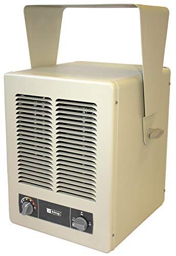 KING KBP1230 KBP Multi-Wattage Compact Unit Heater, 2850W / 120V / 1 Ph, Almond