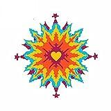 A/X 13 cm 12,5 cm para Fractal Psychedelic Love Dye Heart Van Pegatinas de Coche...