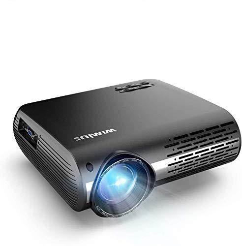 Videoproiettore,WiMiUS 7000 Lumen Nativa 1080P LED Proiettore Full HD Con 300'' Display Supporto 4K Correzione trapezoidale elettronica 50 proiettore per Smartphone, PC,PS4