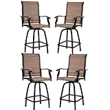 Vicllax Outdoor Swivel Bar Stools-Patio Bar Height Furniture Chairs, Set of 4,Pack of 2