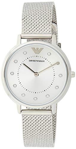 Emporio Armani Damen Analog Quarz Uhr mit Edelstahl Armband AR11128