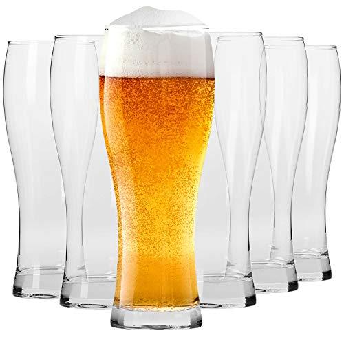 Krosno Alti Bicchieri Birra Weizen Vetro 0,5 Litri | Set di 6 | 500 ML | Collezione Chill | Perfetto...