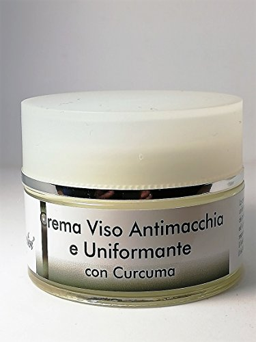 Efficacissima crema viso ad azione antimacchia ed uniformante al Curcum. Previene e riduce le macchie brune uniformando il tono e donando luminosità alla pelle