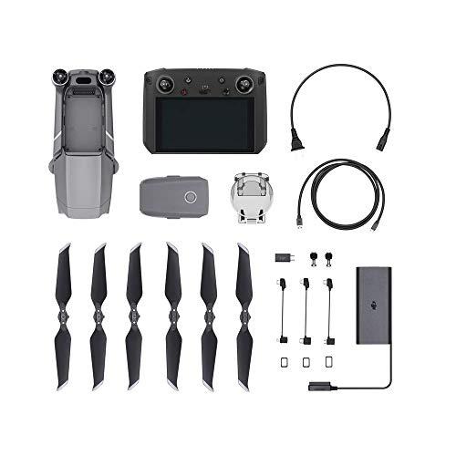 DJI Mavic 2 Zoom Drone con Smart Controller, Zoom Ottico 24-48 mm, Sensore CMOS 1/2.3 12 MP, Super Risoluzione 48 MP, Dolly Zoom, Radiocomando con Monitor 5.5' Ultra-Luminoso 1080p, Grigio