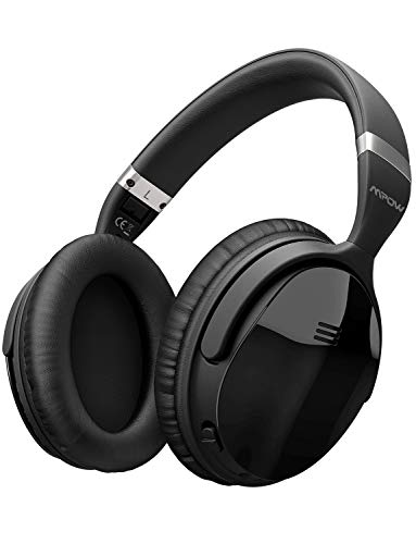 Mpow Noise Cancelling Bluetooth Headphones, Wireless Over Ear Headphones with HiFi Stereo Sound, Built-in Mic, Supports Handsfree Calling and Wired Mode for Phones, PC, TV and Air Travel