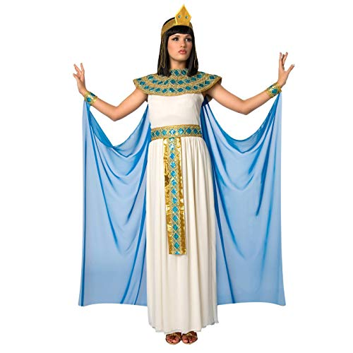 Morph Womens Blue Cleopatra Costume Ancient Egypt Egyptian Princess Dress for Women - Small