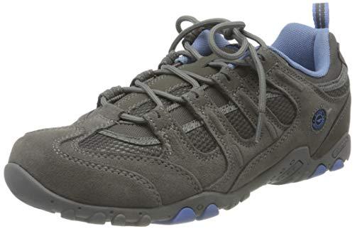 Hi-Tec Quadra Classic - Zapatillas de Senderismo para Mujer, Gris (Grey/Charcoal/Cornflower 051), 38 EU
