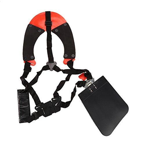 Zerodis Imbracatura da Decespugliatore Doppia Tracolla Professionale Cintura in Nylon Tracolla...