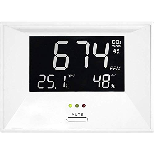 TFA Dostmann CO2-Messgerät 'Air CO2ntrol Life' mit Thermo-/Hygrometer weiss