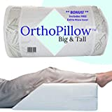 OrthoPillow Big and Tall w/Free 2nd Cover (19.99 Value!!) | Extra Wide and Long | Elevating Leg Rest...