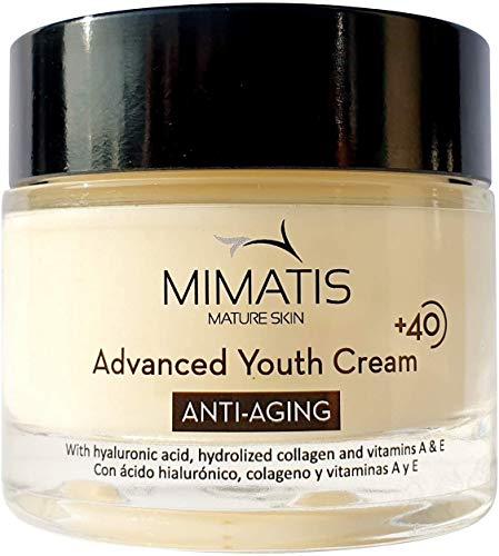 Crema Hidratante Antiarrugas Mujer Piel Madura +40 Reafirmante con Retinol, Ácido...