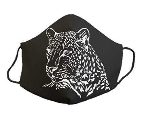 Mascarilla protectora homologada de 3 capas leopardo original divertida con diseño dibujos
