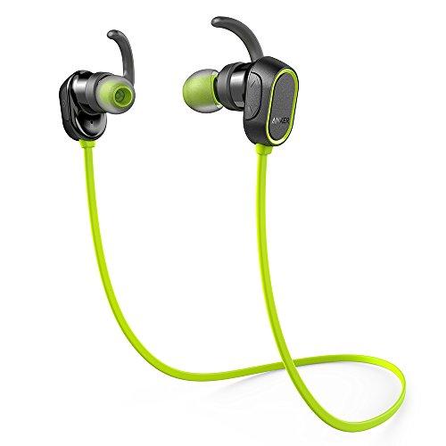 Anker SoundBuds Sport (Bluetooth 4.0 防水イヤホン) 【8時間連続再生 / IPX4防水機能搭載 / 内蔵マイク搭載】 iPhone、Android各種対応 スポーツイヤホン (グリーン) A32330M1