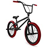 """Elite 20"""" & 16' BMX Bicycle The Stealth Freestyle Bike (20' Black Red)"""