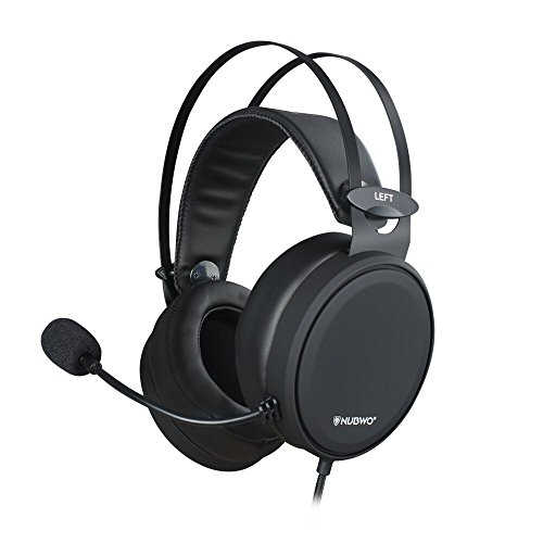 NUBWO Gaming Headset PS4, N7 Stereo Xbox one Headset Wired PC Gaming Headphone mit Rauschunterdrückungsmikrofon, Over-Ear Kopfhörer für PC, MAC, Playstation 4, Xbox One, Android und iPhone-Black