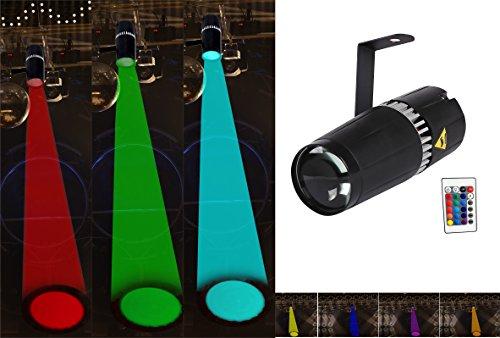 TOM LED 9W RGB 3-in-1 pin spot light - bühne und licht durch infrarot fernbedienungen