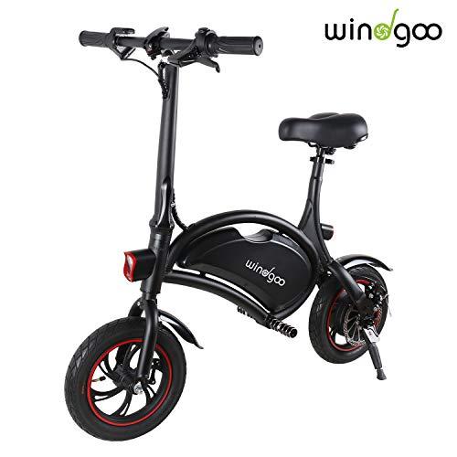 Windgoo Bicicletta Elettrica Pieghevole, Senza Pedale, Sedile Regolabile, Maneggevole, Compatta...
