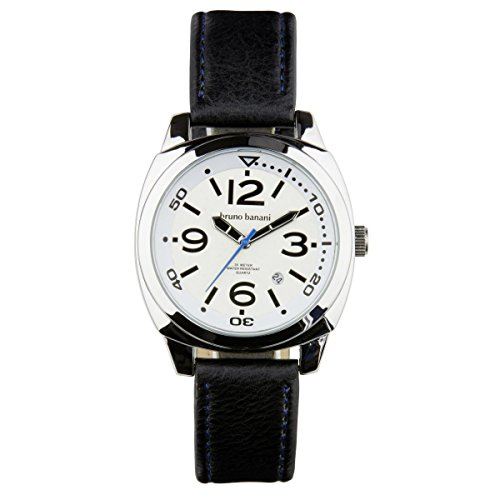 Bruno Banani Uhr Armbanduhr Ketos Leder Analog BR30016