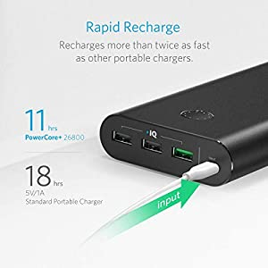 [Quick Charge] Anker PowerCore+ 26800 Premium Portable Charger with Qualcomm Quick Charge 3.0 (Aluminum 3-Port Ultra-High-Capacity External Battery) [Recharges 2X Faster]