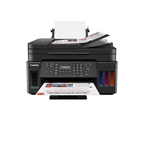 Canon G7020 All-in-One Printer for Home Office   Wireless Supertank (Megatank) Printer   Copier   Scan,   Fax and ADF with Mobile Printing, Black