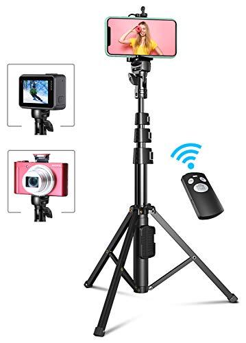 Bovon Perche Selfie, 133cm Extensible Trépied Smartphone Stable avec...