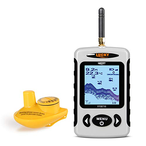 LUCKY Wireless Portable Fish Finder with 120m Wireless...