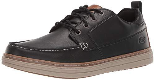 Skechers Heston-sendo, Mocasines para Hombre, Negro (Black Leather Black), 40 EU