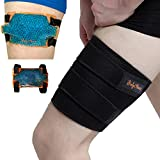 BodyMoves Thigh Support Brace plus Hot and cold ice pack Adjustable hamstring quad Compression wrap...