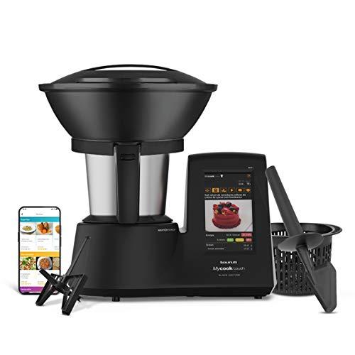 Taurus Mycook Touch Black Edition - Robot de Cocina con wifi, 1600W, 2L, hasta 140º, multifunción, miles de recetas gratuitas e ilimitadas, app mycook, conectividad con tu smartphone, Vaporera, Negro