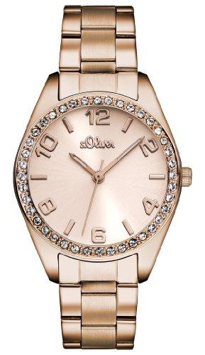s.Oliver Time Damen Quarz Uhr mit Edelstahl Armband