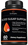 Premium Blood Sugar Support Supplement – Helps Support Healthy Blood Sugar & Glucose Levels – Includes Bitter Melon Extract, Vanadium, Chromium, Cinnamon, Alpha Lipoic Acid (60 Capsules)