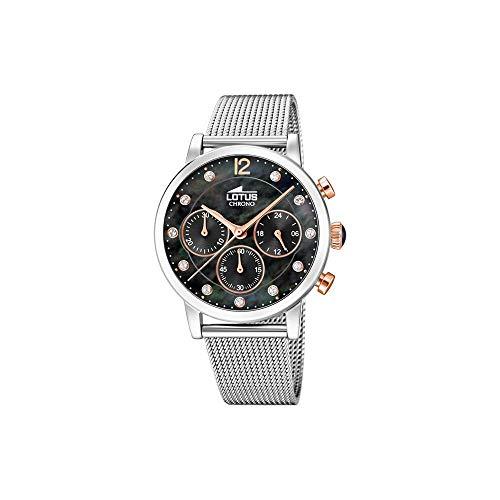 Lotus Damen Chronograph Quarz Uhr mit Edelstahl Armband 18676/4