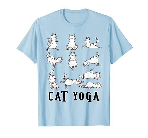 Fun Cat Yoga Gift T Shirt, Cute Family Gift, Lt