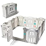 Play22 Foldable Baby Playpen 14 Panel - Kids Safety Activity Play Center - Safety Play Yard Play Pens for Babies - Safety Gates for Indoor and Outdoor Play - Adjustable Shape - NO BPA