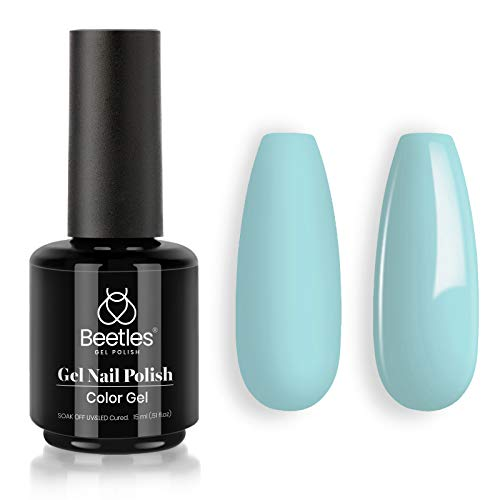 Beetles Gel Nail Polish 15ml Blue Color Gel Polish Set Soak Off LED Nail Lamp Gel Polish Nail Art Manicure Salon DIY Home Christmas Gel 0.5Oz