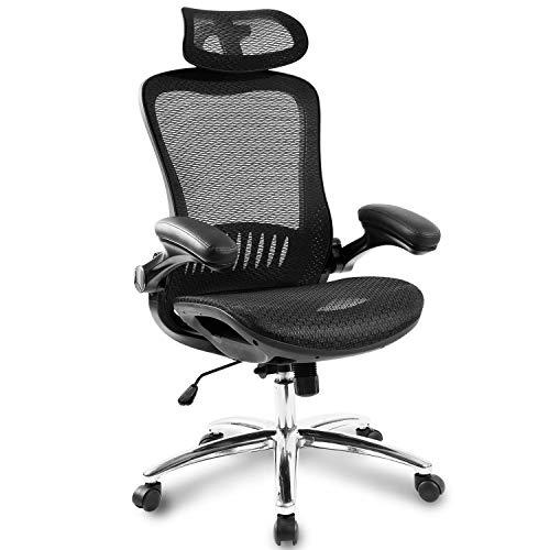 Ergonomic Mesh Adjustable Neck Head armrest...
